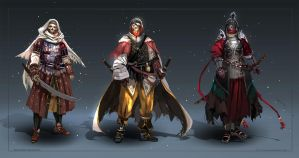 Commission: skeleton warriors - concept sketches by Lea1301