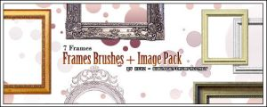 Frames Brushes + ImagePack by KeyMoon