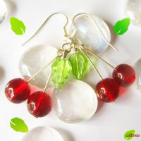 Fresh Cherries Earrings by caithness-shop
