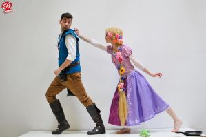 Rapunzel and Flynn Ryder by LulaHula