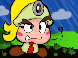 Curious Goombella by LuckyGreen7