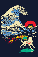 The Great Wave off Oni Island by Glad-Sad