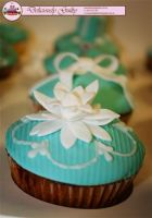 Flowers On Cupcakes by DeliciouslyGuilty