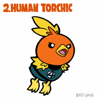 Human Torchic by thirsty-stone