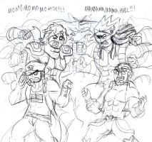 Best Friends Bizarre Adventure: Saltdust Crusaders by Brian12