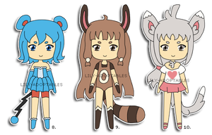 Adoptables 8,9,10 Pokemon Gijinkas OPEN by lily-adoptables