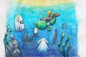 Diving Yoshi by Cita-la-Star