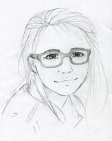 Girl and glasses by Stich-tyan