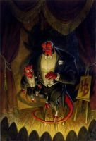 Hellboy the Ventriloquist Demon by Hellboy777Kratos