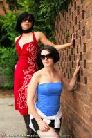 Ada Wong and Jill Valentine by evaliation