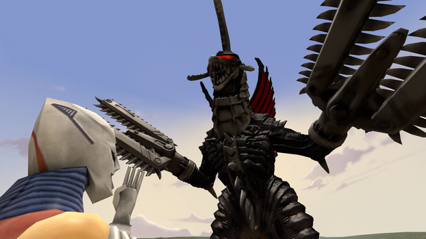 jet jaguar va gigan by Scythwing