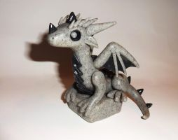 Gargoyle Dragon Sculpture by ByToothAndClaw