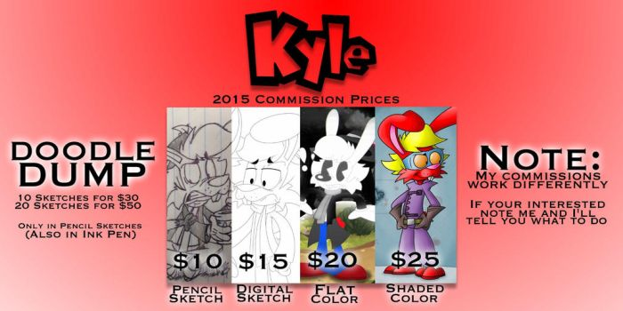 2015 Commission Prices by KyleStudios