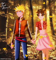 Naruto and TenTen by MyangHime