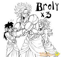 three Broly guess by xuan2046