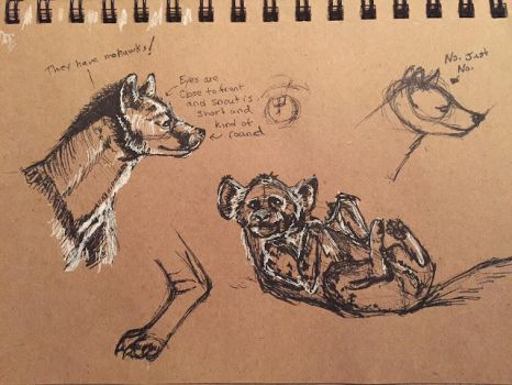 Hyena Studies 3 by Waterbear