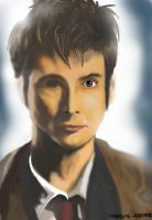 Tenth Doctor Digital Painting by traveling-adventurer
