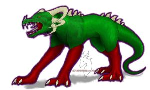 dragonic monster - colored by Dark-Fire-Dragoness