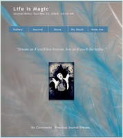 life is magic jurnal skin by airamneleb