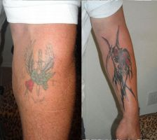 george's tattoo cover up by artgecko