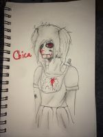 [Human!FNAF] Chica - Sketch. by Pastel-Horrors
