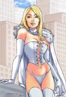 Collab Emma Frost by dessinateur777