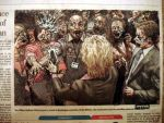 hillary battles iowa zombies by radiofreezombie