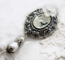 White Cameo Brooch by Aranwen