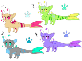Glowfish adoptables - CLOSED by Goldbloom