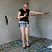 playing with a broom 7 by indeed-stock
