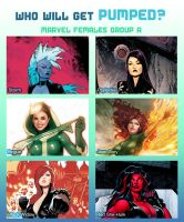 Weekly Rule 34 Poll! Marvel Females Group A by MoxyDoxy