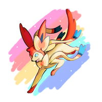 Sylveon (Digital) by MellowMeloetta