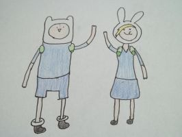 Fionna And Finn by merrywendsday