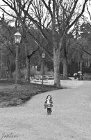 Girl in the park by Zouberi