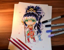 Chibi Warring Kingdoms Nidalee by Lighane