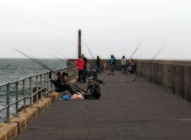 fishing on the pier by awjay