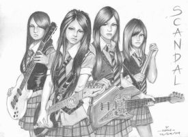 Scandal Girl Band by SyiraRock