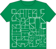 Skatebus Kelly Green shirt by aaronrosen