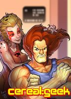Cerealgeek:Lion-O,Cheetara, Thundercats by kidchuckle