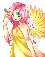 Human Fluttershy by Solanapple