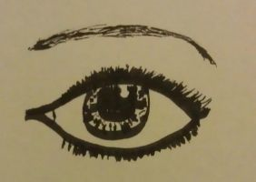 Eye with Calligraphy Pen by Jess2Lucky