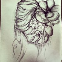 Hair Sketch by AngelicEuphoria
