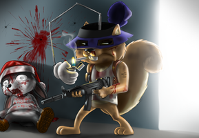 Secret Squirrel by Mr-Shin