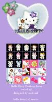 Hello Kitty Desktop Icons by anjicle