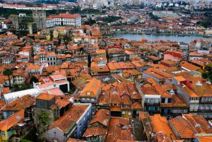 Houses in Porto by Dinozzaver
