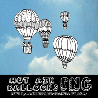 Hot air balloons PNG by vanceiy by VanceIy