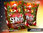 Sexy Santa Party Christmas Flyer Template by pawlowskiart
