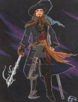 Captain Hector Barbossa as a Space Pirate! by HavocGirl