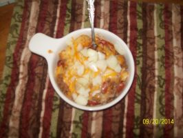 Chili Cheese Tots w/ Onions by VictoireClinton