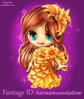 Fantage Customs - Mariflower Feathered Gown by Giumbreon4ever